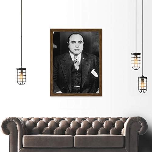 Al Capone 1935 Photo Mafia Nyc Gangster Large Poster Art Print Lf3726