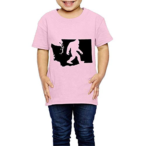 (XYMYFC-E Washington State Bigfoot 2-6 Years Old Boys & Girls Short-Sleeved Tshirt)