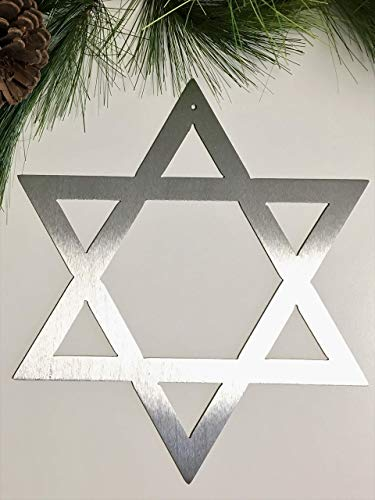 Star of David metal Hanukkah gifts shield of David wall hanging Hanukkah ()