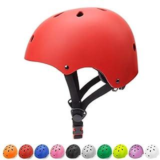 Glaf Kids Helmets Kids Bike Helmet 3-8 Toddler Helmet Multi-Sport Skateboard Helmet CPSC Certified Impact Resistance Ventilation Adjustable Helmet for Kids Toddler Bike Helmet (Red, Small)