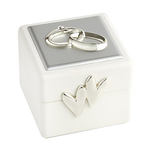 Elegance Wedding Ring Box with Double Rings ()