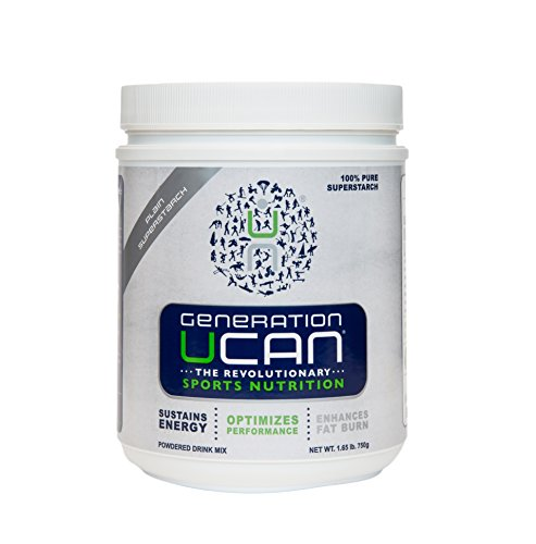 Generation UCAN SuperStarch ® Energy Drink Mix Tub, Plain, No Sugar, Gluten-Free, Vegan, 1.65lbs, 30 Servings