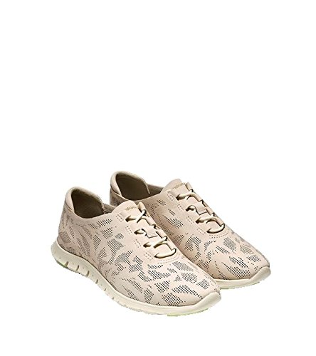 Cole Haan Womens Zerogrand Perforated Trainer Fashion Sneaker Colore: Oyster Grey Perf.