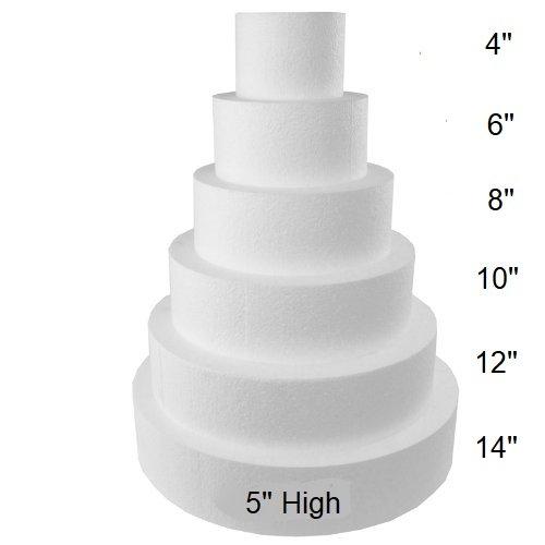 Oasis Supply FK 5x8101214 Fake Dummy Cake Set expanded polystyrene Foam