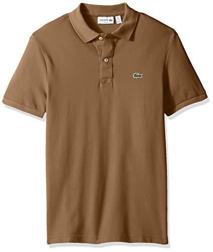 Lacoste Men's Petit Piqué Slim Fit Polo Shirt, Dark Kraft, XXX-Large