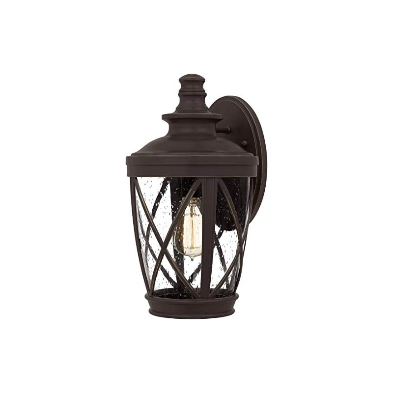 Ashley Harbour ASH4840B Elise Outdoor Wall Lantern, 14.75 x 8.25 x 9.75 in, Palladian Bronze