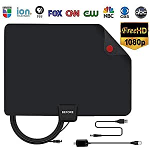TV Antenna 85 Miles Range Support 4K 1080p Free TV Channels