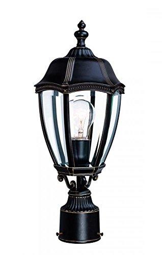 - Dolan Designs 952-20 18-1/2-Inch Antique Bronze Roseville Outdoor Post Light, 18 1/2