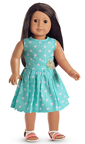 Light Green Polka Dots Dress Doll Clothes For 18 Inch