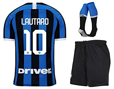 Fimng Lautaro Martínez #10 2019-2020 Inter Milan Kids/Youths Home Soccer Jersey/Short/Socks Colour Blue/Black