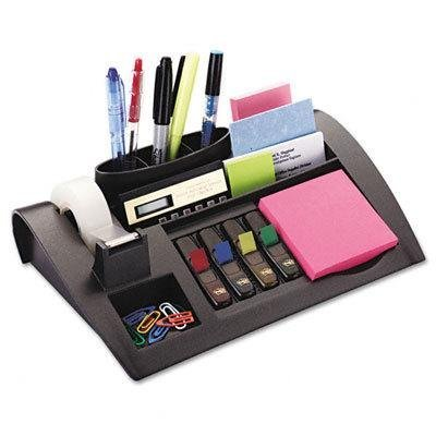 Notes Dispenser w/Weighted Base, Plastic, 11-7/8 x 2-1/2 x 7-3/4, GY by Post-it