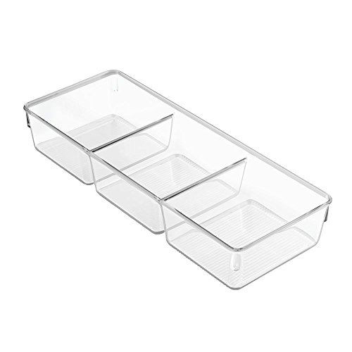 InterDesign Linus Dresser and Vanity Drawer Organizer, 13-inch by 5-inch by 2.25-inch, Clear (Linus Org compare prices)