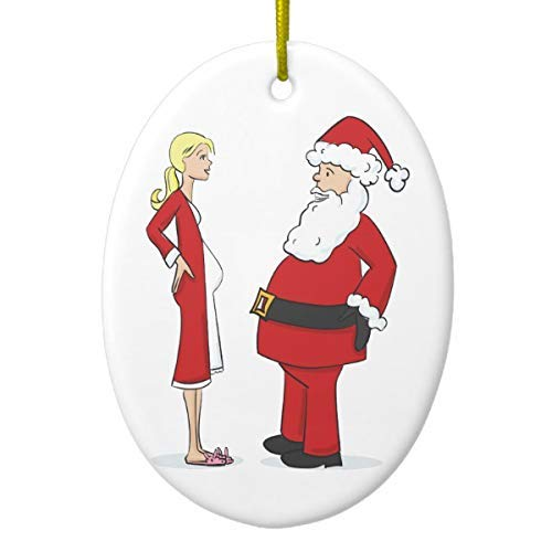 Cheyan Pregnancy Christmas Ornaments Blonde Jelly Oval Xmas Trees Home Decorated Ceramic Ornaments Porcelain Ornament Personalize Souvenir