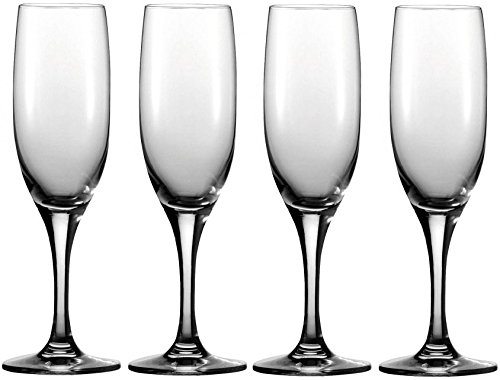 Copper Champagne Bowl (Circleware Vine Glass Champagne Wine Flutes, Set of 4, 7 ounce, Clear, Limited Edition Drinking Glasses)