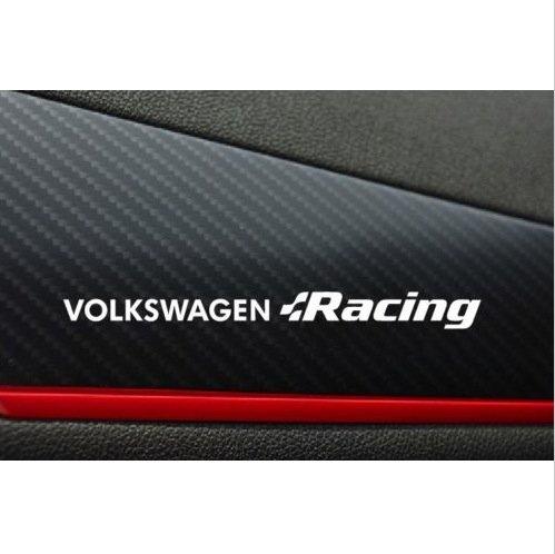 Volkswagen Racing - VW Volkswagen Racing dashboard decal 2 pcs. 130Mm (white)