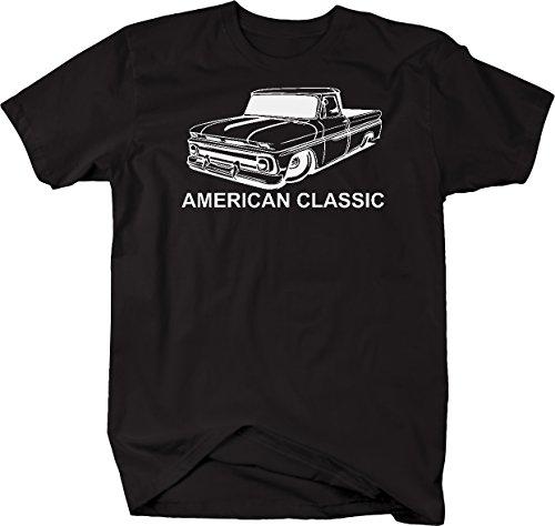 Gmc Pickup Fleetside (American Classic Chevy C10 GMC Fleetside 60-66 Pickup Truck Tshirt - XLarge)