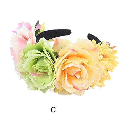 UOKNICE Halloween 1PC Headband Yak Horn Hair Tiara Headband Hair Hoop Headdress ()