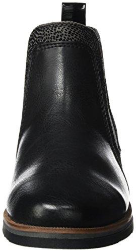 Tozzi antcomb 25335 Marco Femmes Des Chelsea Bottes Noires Noir T6TOq1w