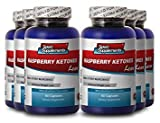Raspberry Ketones - Raspberry Ketones Lean - Herbal Immune System and Metabolism Booster with Pure Raspberry Ketones (6 Bottles)