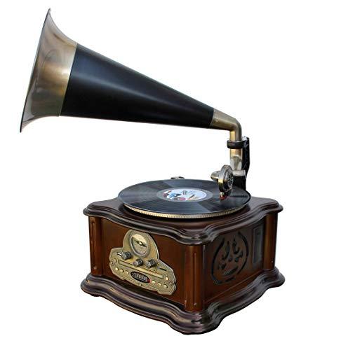 Soundmaster NR917 platenspeler zwart, brons, bruin – platenspeler (zwart, brons, bruin, 33,45,78 omw/min, buiten…
