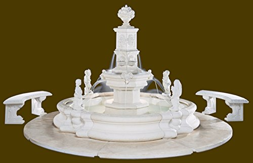 Henri Studio Tower Millennia Fountain - Stone Finish