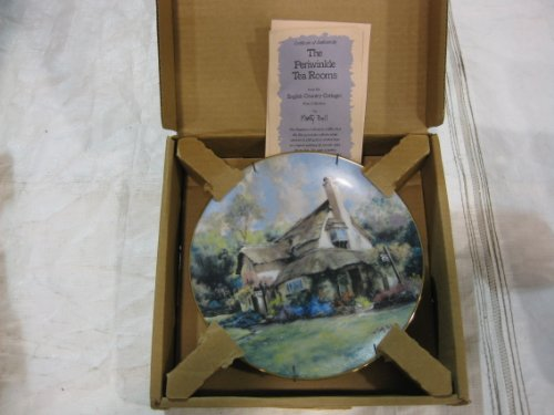 Cottage Marty Bell (The Periwinkle Tea Rooms From the Hamilton Collection English Country Cottages Plate Series By Marty Bell 1990 Limited Edition Plate # 2380 a with Hamilton Collection Certificate of Authenticity)