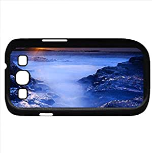 Sunset (Sunsets Series) Watercolor style - Case Cover For Samsung Galaxy S3 i9300 (Black)