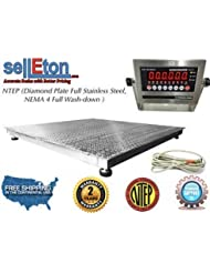Selleton Ntep 60 X 60 5 X 5 Floor Scale Fixed Top Stainless Steel Washdown 2000 Lbs