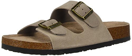 Skechers Women's Granola-Fresh Spirit-Classic Comfort Two Strap Slide Sandal, Taupe, 10 M US by Skechers