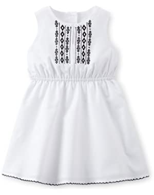 Poplin Embroidered Dress Set