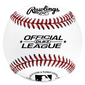 Rawlings Baseballs Official League Recreational Use OLB3, 2 Ball Pack by Rawlings