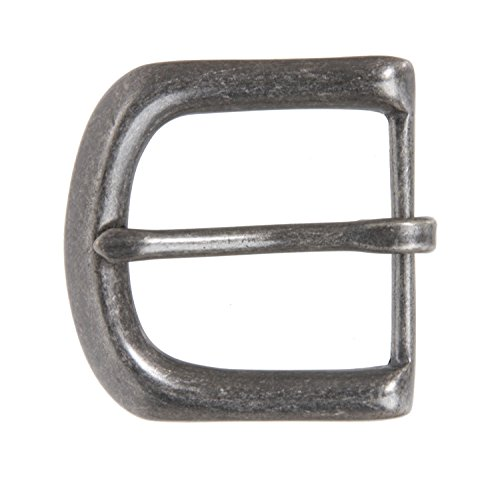 "1 1/2"" (38 mm) Nickel Free Single Prong Solid Brass Horseshoe Belt Buckle Color: Antique Silver from beltiscool"