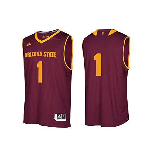 (adidas NCAA Arizona State Sun Devils Mens Replica Basketball Jerseyreplica Basketball Jersey, Maroon, Medium)