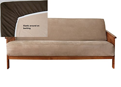 Classic Micro Suede Easy Fit Fitted Full Size Futon Covers -