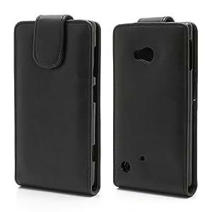Funda de cuero PU Vertical y Magnetica para Nokia Lumia 720. Negro.