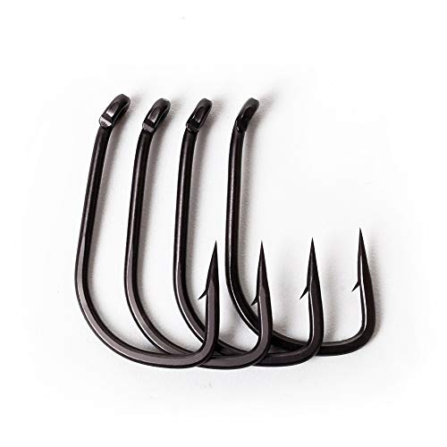 Pena 100Pcs Tackle Fishing Hooks Accessories Carbon Steel Sharpened Carp Professional Barbed(6#)
