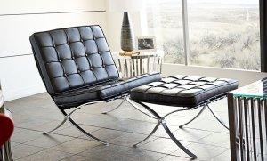 Cordoba Storage Ottoman - Cordoba Tufted Chair & Ottoman 2PC Set w/Stainless Steel Frame by Diamond Sofa - Black