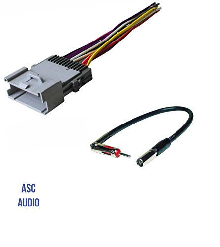 ASC Car Stereo Wire Harness and Antenna Adapter for GM: 03-05 Blazer/S-10, 01-02 Express,00-01 Metro,00-03 Prizm,98-04 Tracker;01-02 Savana,03-04 Sonoma,03-08 Pontiac Vibe,03-04 Toyota Matrix etc.