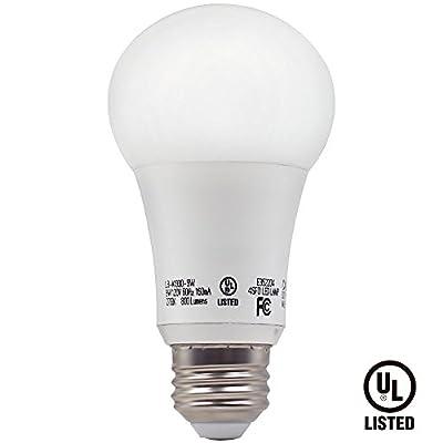 TORCHSTAR UL-listed 9.5W A19 LED Light Bulb, 60W Equivalent A19 LED Bulb, 800 lumens 300° Omni-directional Beam, E26/E27 Base Warm White 2700K for General, Residential, Commercial Lighting