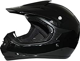 Guantes Leopard LEO-X15 Negro Casco de Motocross para Ni/ños S + Gafas 5-6 A/ños + Traje de Motocross para Ni/ños M 6cm M 51-52cm