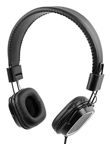 DURAGADGET Premium Padded Black Headphones with Microphone for the Asus ROG GL502VT (2017)|ROG GL55 2VX|ROG GL551JW-DS71|ROG GL551JW-DS74|ROG GL552JX-DM165H|ROG GL552JX-DM215H|ROG GL552VW - by by DURAGADGET
