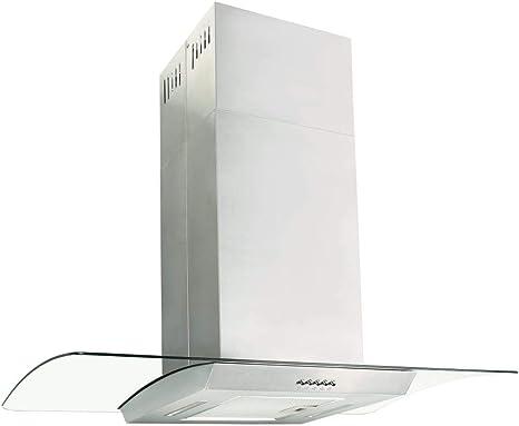 xinglieu campana extractora A Isla 90 cm Acero inoxidable 756 M3/h LED filtro campana extractora cocina campana: Amazon.es: Grandes electrodomésticos