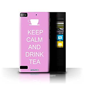 STUFF4 Phone Case / Cover for Blackberry Z3 / Drink Tea/Pink Design / Keep Calm Collection