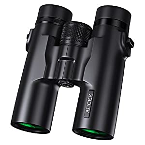 AUCEE 10x42 Binoculars for Adults, Professional HD Compact Waterproof and Fogproof Binoculars for Bird Watching Hiking Travel Stargazing Hunting Concerts Sports-BAK4 Prism FMC Lens with Carrying Bag