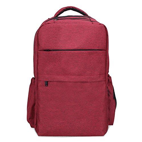 bigforest multifunción bebé pañales para pañales bolso cambiador momia mochila bolsa de viaje bolso rojo rosso Talla:talla única rosso