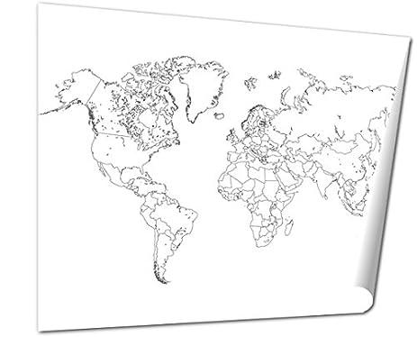 Amazon ashley giclee world map outline illustration wall art ashley giclee world map outline illustration wall art poster print for bedroom ready to frame gumiabroncs Choice Image