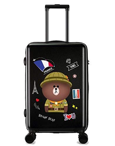 SfHx 荷物の小さな新鮮な大学生のトロリーユニバーサルホイールスーツケース (Color : ブラック)  ブラック B07MQ5YCC1