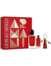 Giorgio Armani Si Passione Eau De Parfum, 100 ml With Eau De Parfum, 15 ml With Keychain Gift Set For Women, 2724799165457