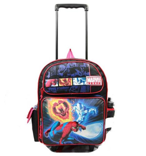 Großem Rolling Rucksack – Marvel – Spiderman – W Johnny Storm & Silver Surfer New 39389