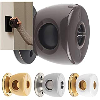UnaBaby - Bronze Door Knob Safety Cover - Choose 1 of 4 Colors Available - Beautifully Designed To Blend With Doorknob Color - 4 Pack (All Brown) - Child Proof Doors - Toddler and Baby Safety